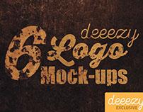 6 Free Photorealistic Logo Mock-ups