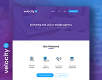 Velocity 6 - Landing Page Free PSD template
