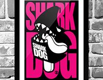 Shark DOG surf snowboard tall-T design application
