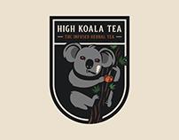 High Koala Tea   THC Infused Herbal Tea Branding