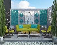 Garden design open-air space