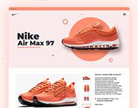 Nike Air Max 97 Landing page