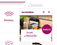 ICE Wireless UI / UX / Visual Design