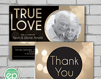 True Love Anniversary Invitation & Thank You