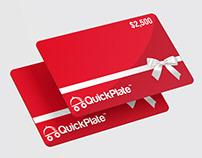 Elegant gift card design for a food delivery service