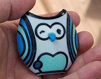"""Wink"" Owl Figurine   Artist Collaboration"