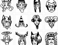 faces, character portrait designs