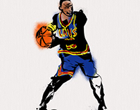 Tribute to Banksy and Lebron James