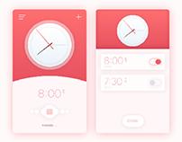 clock and alarm