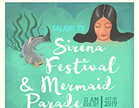 2019 Sirena Fest & Mermaid Parade Poster