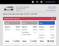 CDK Global // Universal service menu