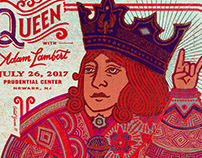 QUEEN with ADAM LAMBERT POSTER