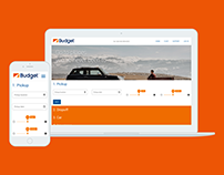 Budget Car Rental One-page Responsive UX/UI Design