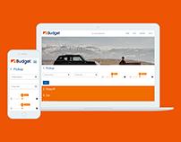 Budget Car Rental One-page Responsive UX/UI Design
