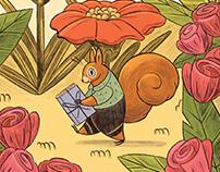 Ekor Book Shop Cafe - Illustration
