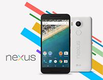 Nexus 5X website concept