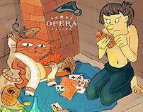 Carricatures Calendar for Opera Casino