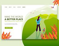 Landing page design illustration