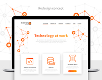 MEMOS software. Website redesign concept