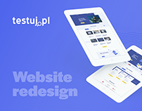Testuj.pl - website redesign