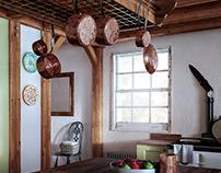 The visit kitchen.