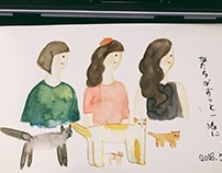 some watercolor 手帳