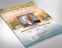 Funeral Program Word Publisher Template
