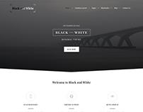 Black and White WordPress theme