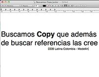 DDB Medellin busca Copy Junior
