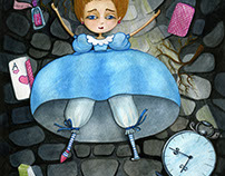 Alice Falls Down The Rabbit Hole!