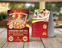 Pizza Restaurant Table Tent Template Vol.2