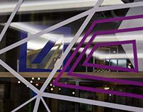 TAPE ART LOCATION DESIGN // DEUTSCHE BANK