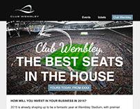 Email design - Club Wembley