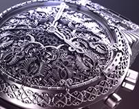 Armenian cross-stone style watch