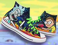 RICK AND MORTY x CONVERSE SNEAKER CUSTOM