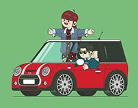 Driving (loop animation)