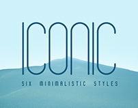 Iconic Font | 6 styles
