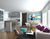 Sales ArchViz, Interior design Apartments in Cajica.
