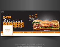 Facebook Cover Design Banner (Burger)