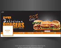 Facebook Cover Design Banner (Burger)