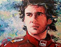 Ayrton Senna - Acrilic on Canvas 100x160