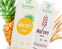 Packeging of new yogurts — «GreenAgro»