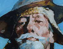 Don Quixote portrait- Painting portrait assignment
