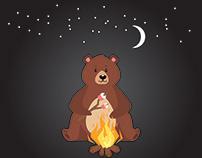 Vector Cartoon Illustration of Bear