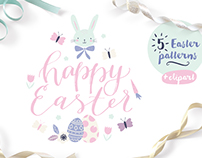 Easter patterns and clip art