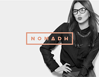 Nomadh Glasses project Branding & Website