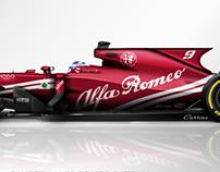 2018 Sauber Alfa Romeo F1 Team Concept Liveries