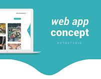 Fotostudio - web app concept