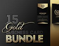 Gold Business Card Bundle + 15 Templates
