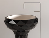 Triangle freestanding washbasin and bathtube T4